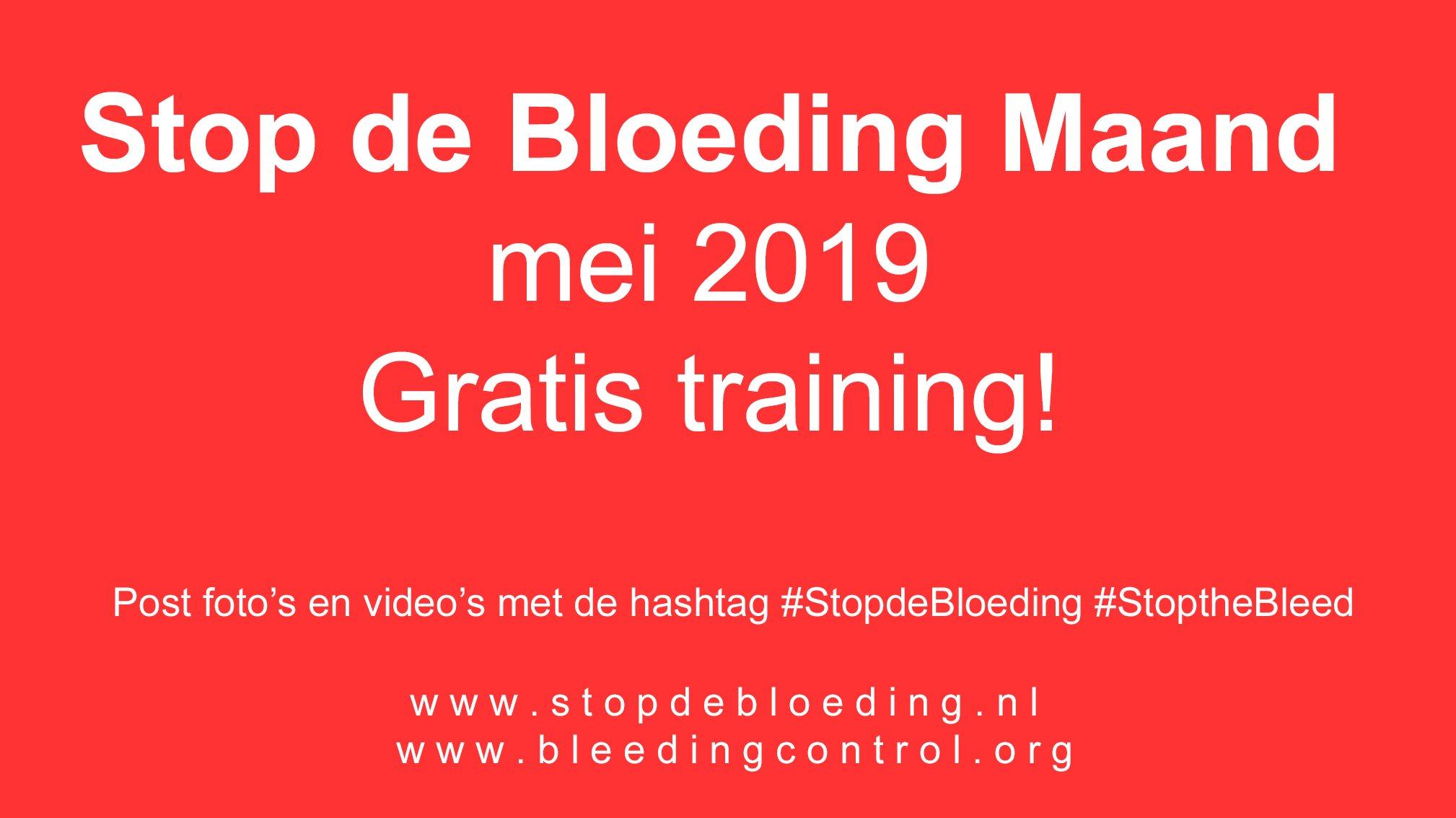 stop de bloeding maand